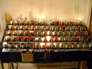 Candles at St Francis Cathedral, Santa Fe, NMCopyright G G Collins