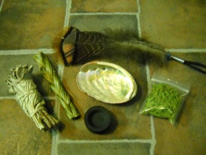 Items for Smudging CeremonyCopyright G G Collins