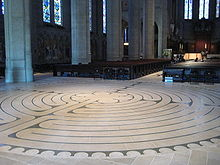 Labyrinth at Chartes Cathedral, France Wikipedia Commons