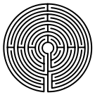 Medieval Pattern Labyrinth,  Wikipedia Commons