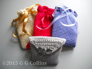Trantham's crocheted medicine bags.