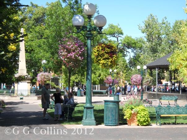 The Santa Fe Plaza.