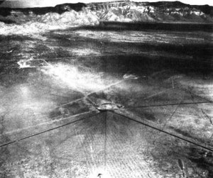 Scarred Earth After Test Courtesy Dept of Energy