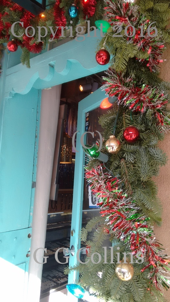 Santa Fe Christmas Door