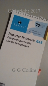 A Reporter Notebook is only 4 inches Wide.